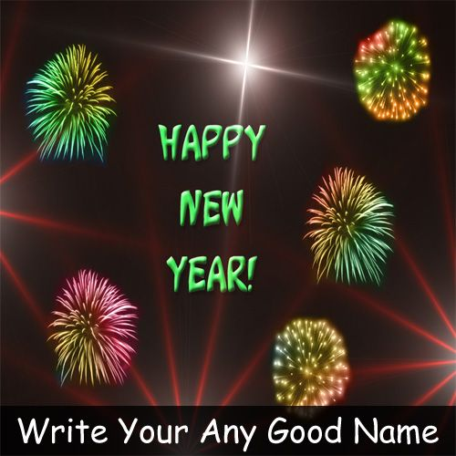 2021 New Year Wishes Writing Your Name - Name Create Cards