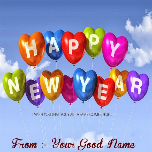 2020 Happy New Year Wishes on write your name - Name Create Cards