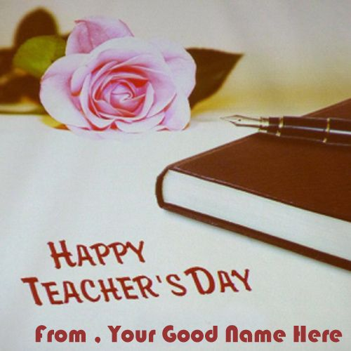 Greeting Card For Best Teachers Day Wish Name Pix - Name Create Card