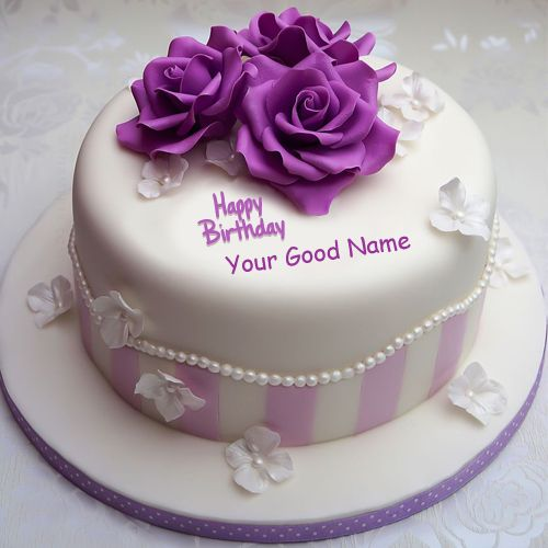 Best #1 birthday cake with name wishes image download free