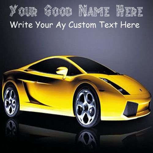 Cool sports car stylish profile with name write pictures edit