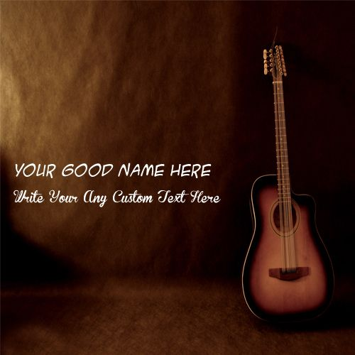 Awesome music guitar cool profile with name pictures create online free