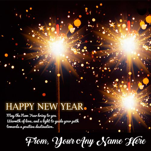 Write name on happy new year 2021 greetings image with name