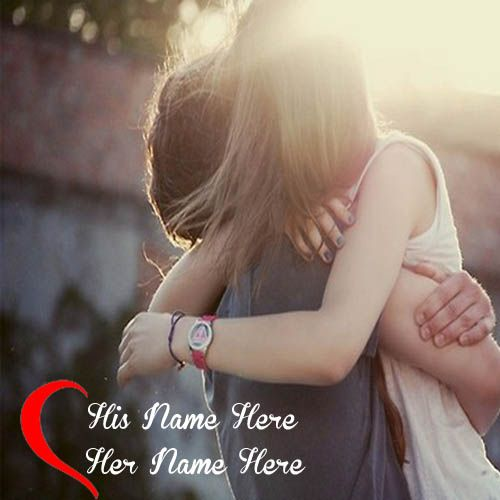 Romantic Couple Hug Best DP Name Pictures - NameCouplePics