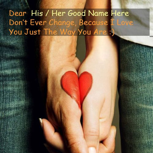 Love Heart On Couple Hand Name Picture - Couple Name Pics
