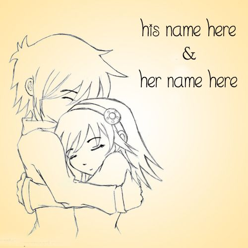 Cute Cartoon Couples Name Picture - NameCouplePics