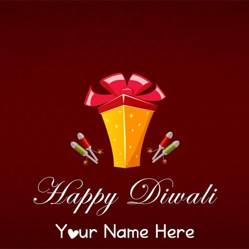 Make Your Name Diwali Wishes Card Images Send
