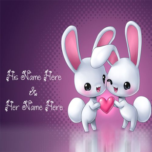 Cutest Rabbit Love Awesome Couple Name Pictures - Name Profile Love