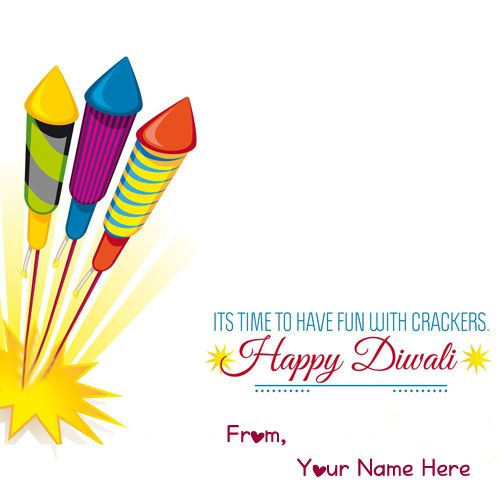 Amazing Diwali Wishes Images With Name Greeting Card