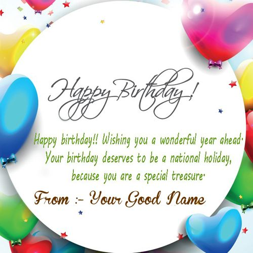 Awesome birthday wishes greeting image with name create