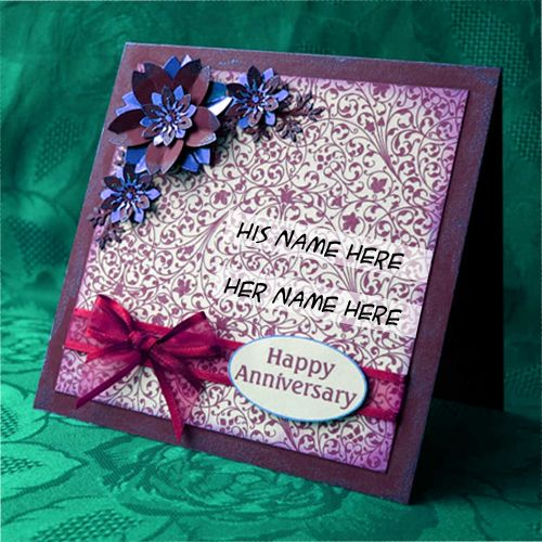 Best Marriage Anniversary Greeting Card On Name - Create Wish Cards