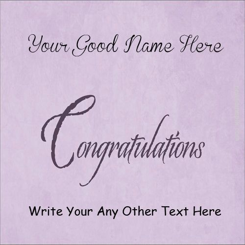 Congratulations Wish Card On Name Pictures - Name Create Cards