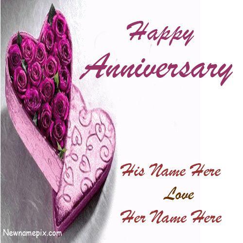 Happy Marriage Anniversary Pics With Names - NameAnniversaryCake