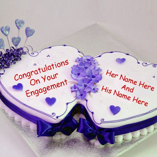 Congratulations on your engagement cake with name image download