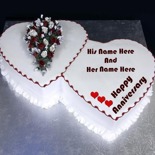 Make your name on wedding anniversary cake wishes status pictures