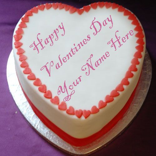 Happy valentines day special heart cake name pictures edit online free