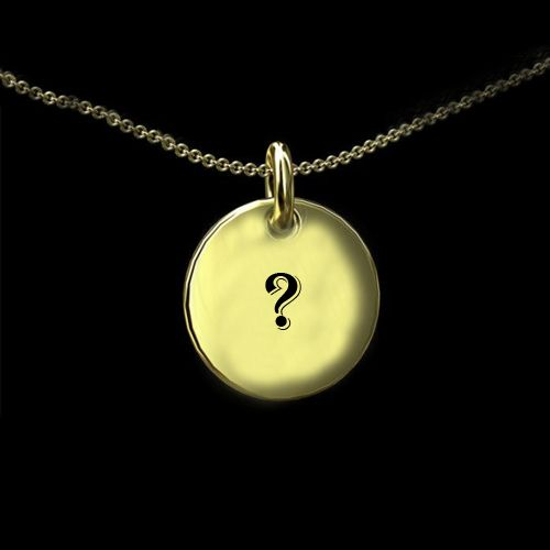 Gold pendant necklace on my name first letter profile image