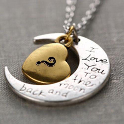 Moon heart key chain alphabet name whatsapp profile pictures