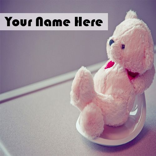 Awesome Beautiful Pink Cute Teddy With Name Pics - Online Image Edit