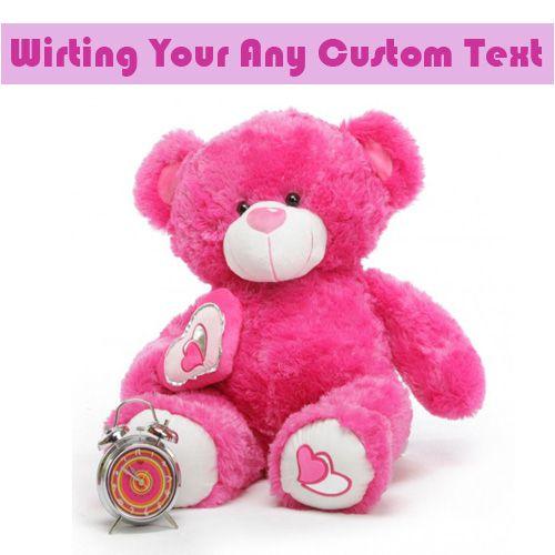 Write Name On Beautiful Pink Teddy Bear Profile Pics - WriteNamePics