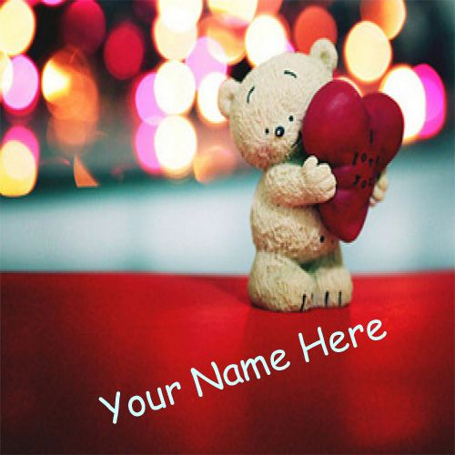 Cute Teddy Love Heart With Your Name Pictures - Cute Name Profile