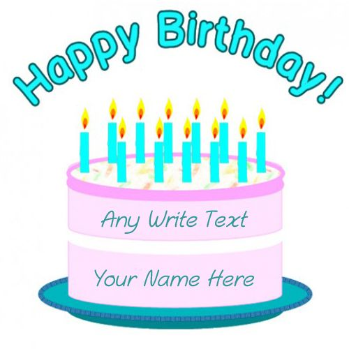 Make your name on birthday cake wishes profile pictures