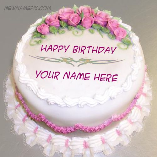 Astonishing Awesome Rose Birthday Wishes Cake With Name Pictures Birthday Funny Birthday Cards Online Hendilapandamsfinfo