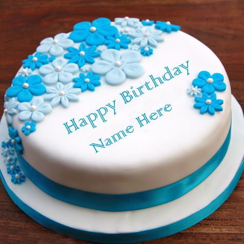 Beautiful rose birthday cake wishes images with name write