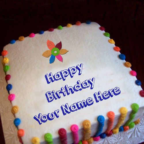 #1 Birthday cake with name write best wishes pictures create online