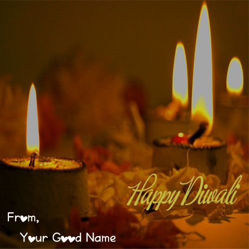 Beautiful Diwali Photo 2020 With Name Card Send