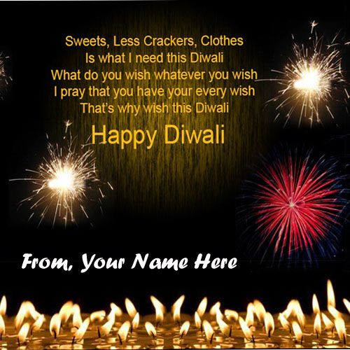 Write Name On Diwali Greeting Card 2020 Wishes Pics