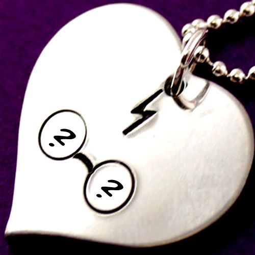 Heart pendant chain couple name first letter profile picture