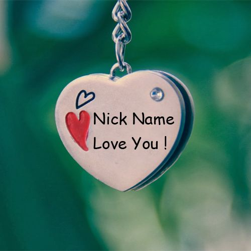 Beautiful heart pendant chain love you name profile picture