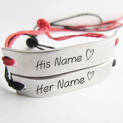 Couple name beautiful stylish hand bracelet picture editor online