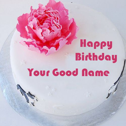Awesome rose birthday cake wishes photo with name write