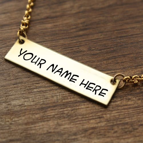 Gold beautiful chain necklace for girl name profile picture creator