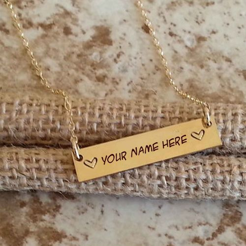 Gold nameplate with chain jewelry profile pictures online download