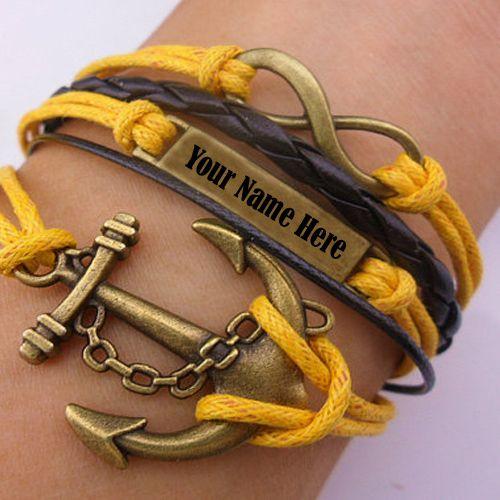 Handmade bracelet for men name write profile picture create online