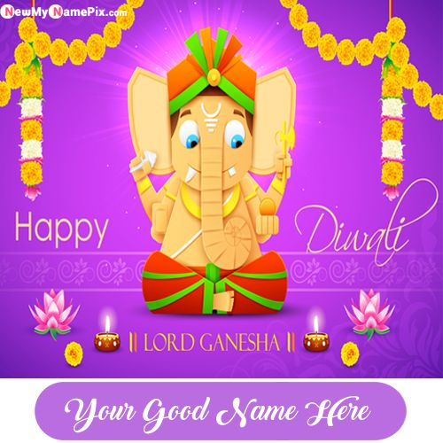 2019 Happy Diwali Lord Ganesha Wishes Name Pictures