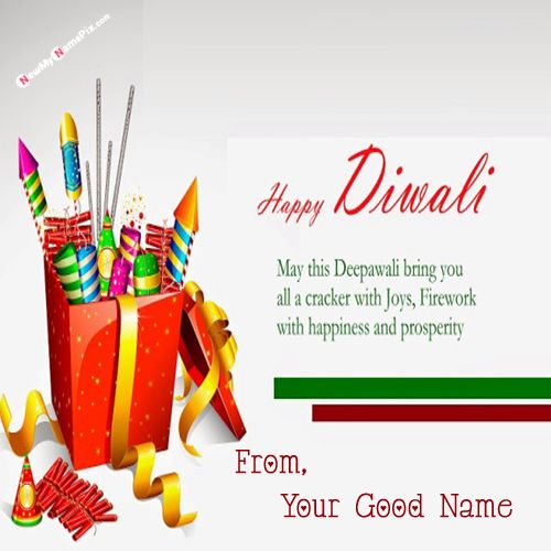 Write Name On Diwali Crackers Quotes Pics Send Free