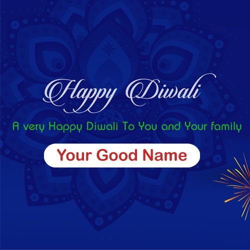 Wish You Very Happy Diwali Family Name Write Card Download