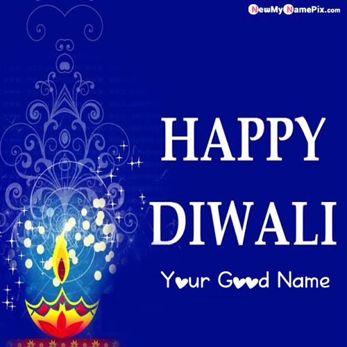 Latest Diwali Cards 2020 With Write Name Pictures