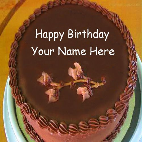 Write name on birthday wishes chocolate cake picture creative