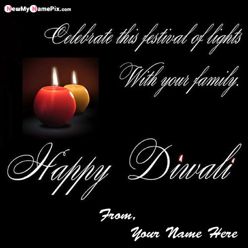 Online Diwali Ecard With Name Wishes Photo Create Free