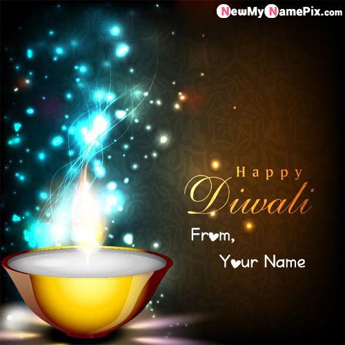 Diwali Greeting Wish Card With Name Image Create