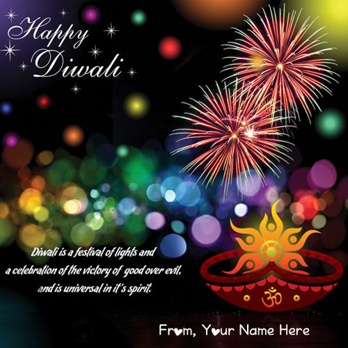 New Best Wishes Diwali Card With Name Picture Create