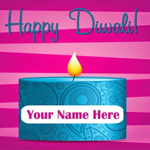 Write Name On Diwali Pataka Wishes Pictures