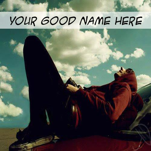 Beautiful sky view cool boy whatsapp dp with name pictures