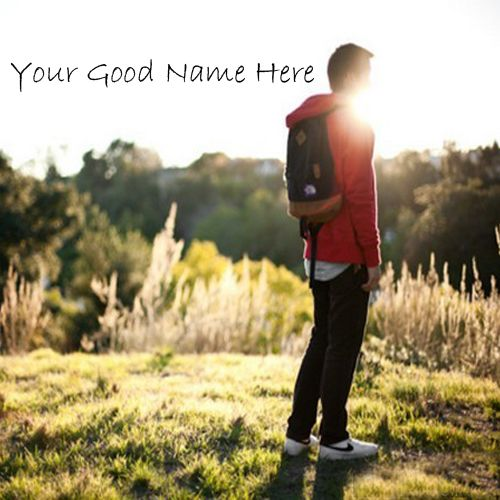 Cute boy sadness look sunset point image with name profile pic