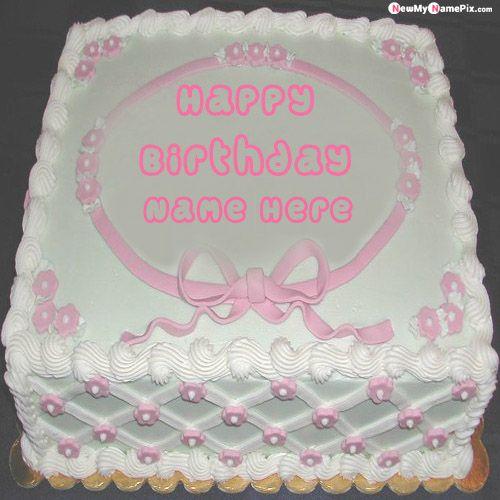 Birthday wishes beautiful white cake name pictures - birthday name pix